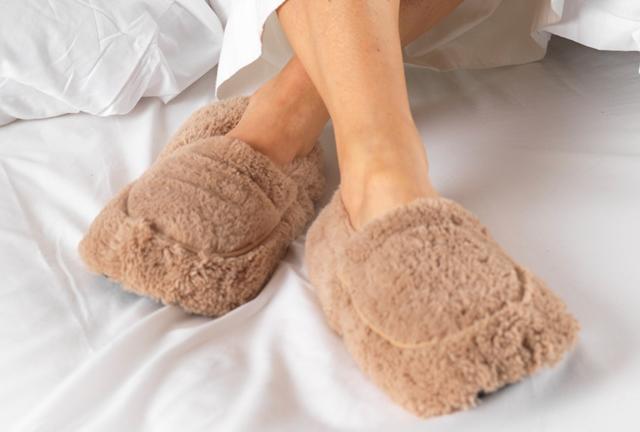 Zapatillas Térmicas para microondas Warmies ™. Peludas