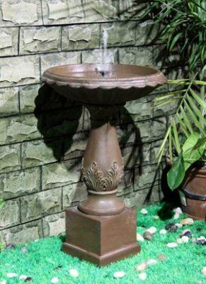 Fuente beaumont efecto bronce bebedero de p jaros - Fuente para pajaros ...
