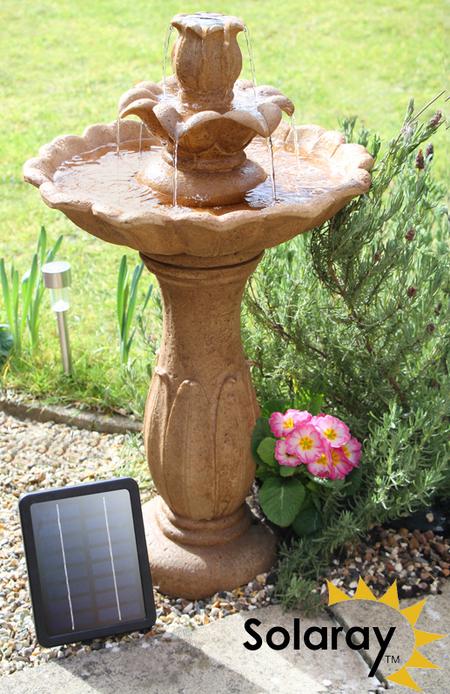 Fuente bebedero solar para p jaros ruthwell de solaray - Fuente para pajaros ...