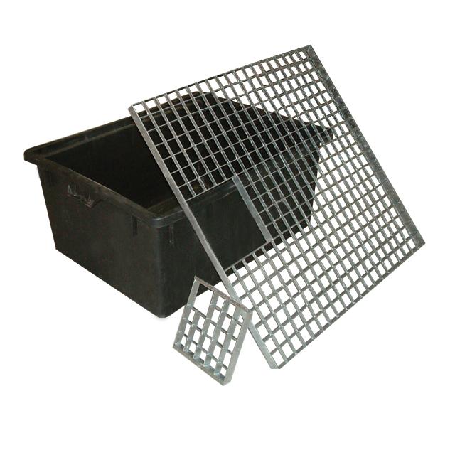Estanque rectangular y o rejilla 150l for Estanque prefabricado rectangular