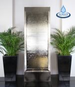 Fuente Pared de Acero Inoxidable Gigante de 174cms