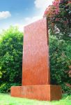 Pared Vertical de Acero Corten con Luces LED 120cm