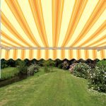 Toldo Est�ndar Manual de Color Amarillo a Rayas 4.0m