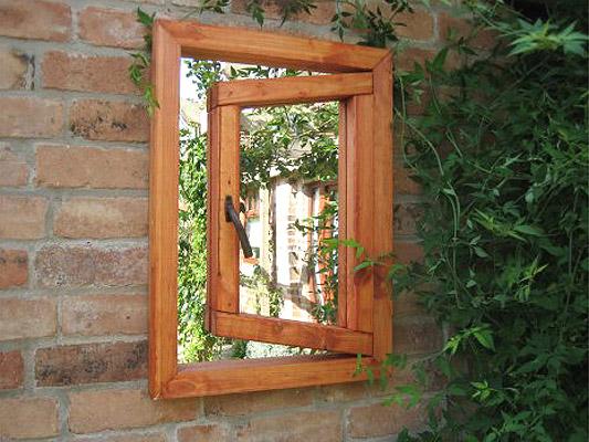 Espejo de jard n ilusi n ventana peque a 130 99 for Espejos para jardin