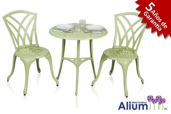 Conjunto de Mesa de Bistró para Jardín de Aluminio Fundido \