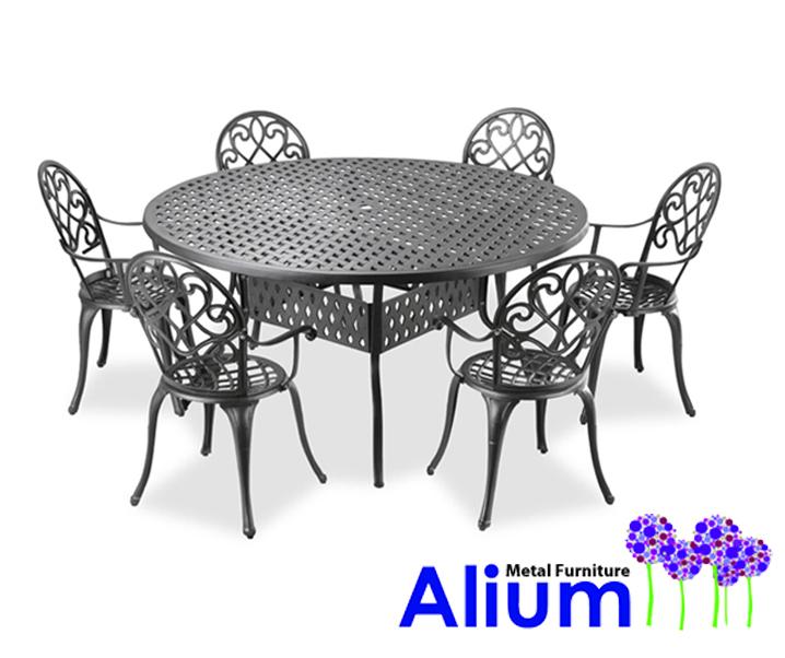 Conjunto de comedor de Aluminio Fundido para Jardín \
