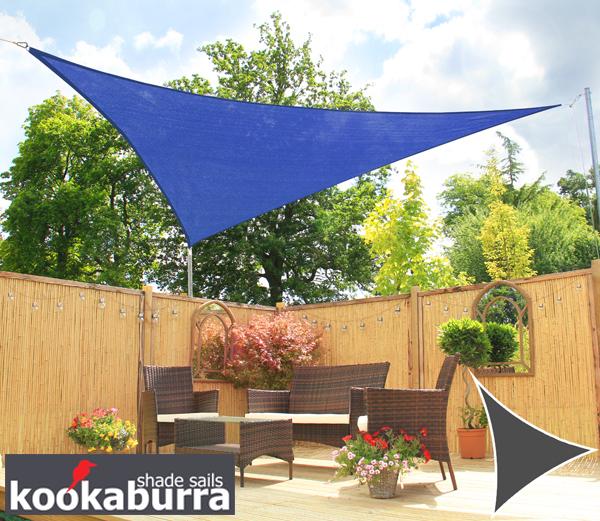 toldo vela econmico kookaburra azul triangular 36m transpirable 185g - Toldo Vela Rectangular