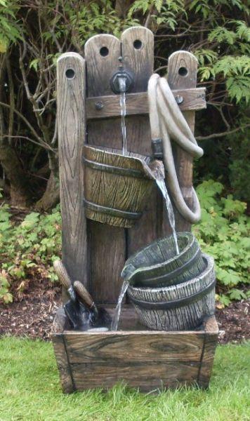 Fuente de agua floresta con luz 379 99 - Fuentes solares para jardin ...