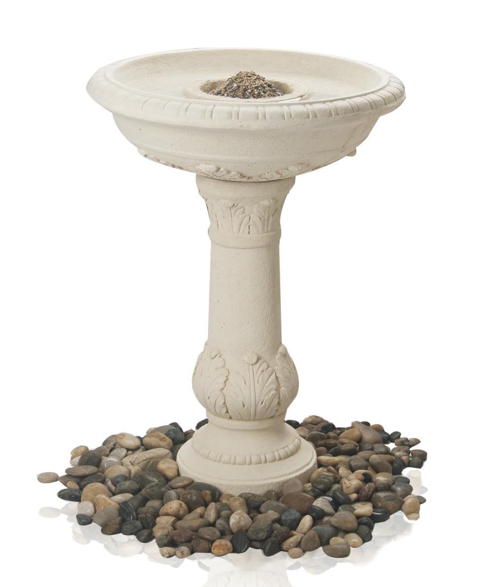 Bebedero comedero windsor para p jaros acabado en piedra for Bebederos para aves jardin