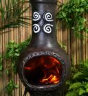 Chimeneas para jard n calefacci n de exterior - Chimeneas de barro ...
