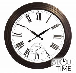 De About Time™ Jardín 69cm Reloj Antiguo Marrón Gigante HE2IWD9
