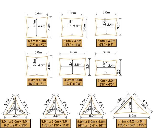rectangular 30mx20m - Toldo Vela Rectangular