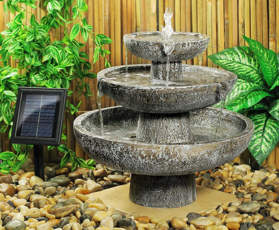 Fuente solar de 3 niveles 124 99 - Fuentes solares para jardin ...