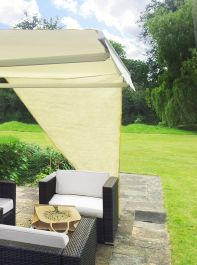 Toldo Vela Lateral Triangular - Crema