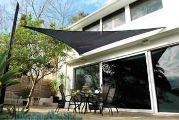 Toldo vela Coolaroo Carbón - Triangular 3.6m