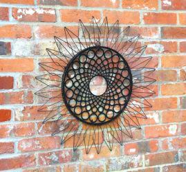 "Decoración de Pared con Marco de Metal ""Girasol"" Reflect"