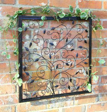 Decoraci n de pared de metal rbol de la vida reflect 74 for Adornos pared metal