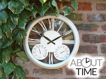 Reloj Clásico - Blanco Antiguo - 32cm - About Time™