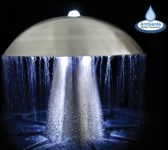 Fuente Seta de Acero Inoxidable - Luces LED