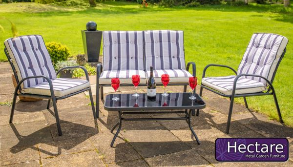 Hadleigh 4 Seater Garden Sofa Set With Coffee Table In Black By Hectare®