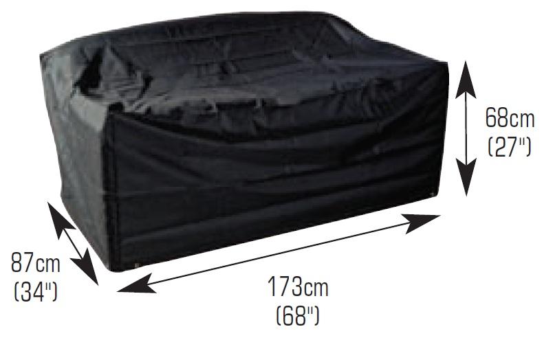 Funda protectora para sof 2 y 3 asientos bosmere 68 99 for Sillones sin apoyabrazos
