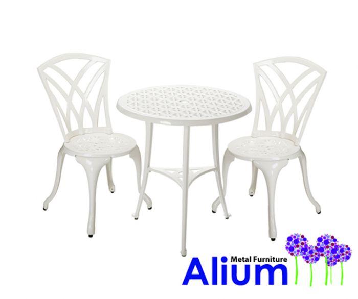 Conjunto de Muebles de Aluminio Fundido para Jardín Málaga– 2 Sillas ...