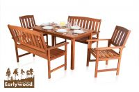 "Conjunto de Comedor Rectangular de Jardín 6 plazas ""Richmond"" Earlywood™"