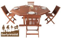 Conjunto de Comedor Octogonal de 4 Sillas Ilford  - Earlywood™