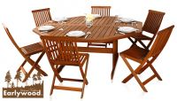 Conjunto de Comedor Octogonal de 6 Sillas Ilford - Earlywood™