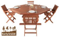 Conjunto de Comedor Octogonal de 4 Sillas 'Ilford' Earlywood™