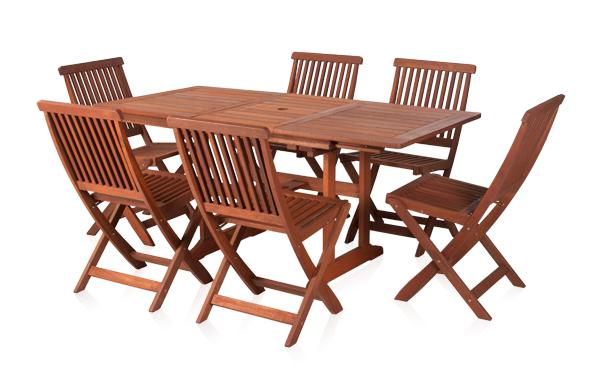 Conjunto de comedor mesa rectangular extensible y 6 sillas - Conjunto mesa extensible y sillas comedor ...