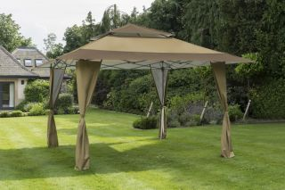 Carpa Plegable - Pérgola Marrón Topo  XL - 4m x 4m