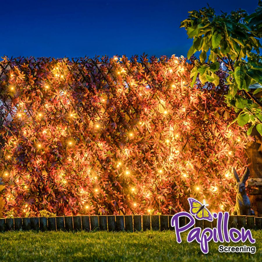 Cercado Extensible Artificial - Hoja de Arce con Luces LED de 2.0m x 1.0m- De Papillon™