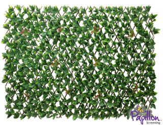 Cercado Extensible Artificial Hojas de Laurel - 1 x 2 m por Papillon™