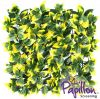 50x50cm Yellow Leaf Artificial Hedge Panel - by Papillon™ - 2 Pack - 0.5m²