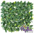 Panel para Jardín Vertical Artificial - Hojas de Laurel - 50 cm x 50cm - por Papillon™