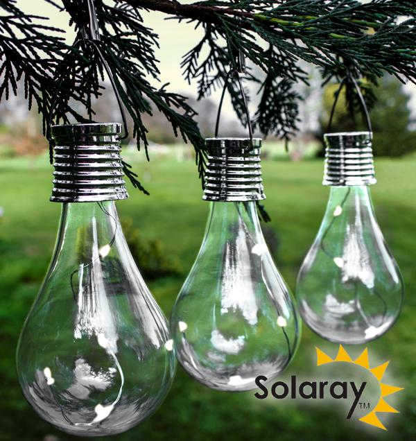 Luces solares en forma de bombilla para uso exterior for Luces de navidad solares para exterior