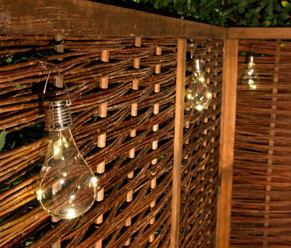 Luces solares en forma de bombilla para uso exterior - Luces exteriores solares ...
