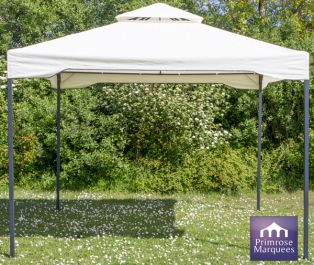 Carpa de Acero Chatsworth Color Marfil 3 mx 3 m