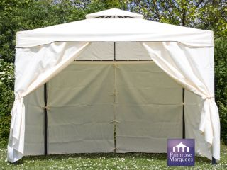 Paredes Larerales para Carpa de Acero Chatsworth Color Marfil 3 mx 3 m