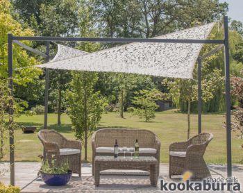 toldo vela red decorativa rectangular 30m x 20m impermeable con estructura de soporte y accesorios - Toldo Vela Rectangular