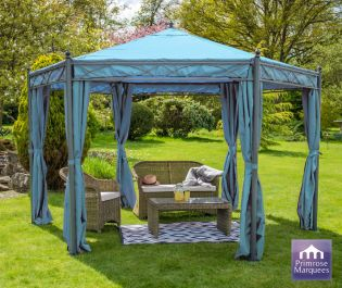 4m x 4m Carpa con Paredes Integradas Anjuna - Color Azul