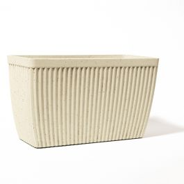 Macetero Artesano Rectangular - Color Blanco Paloma 73.5cm