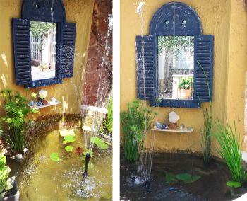 Espejo r stico louvre para jard n azul 75x39cm 79 99 for Espejos para jardin