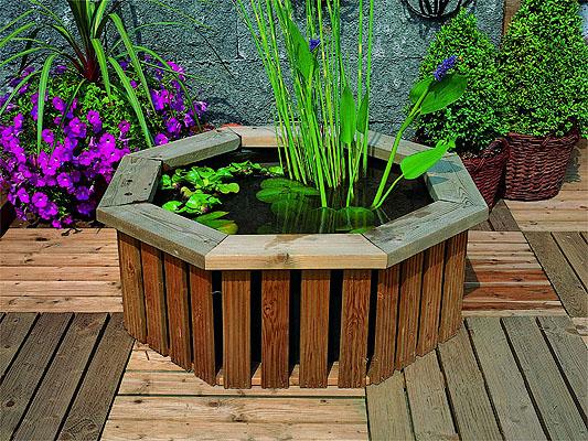 Estanque con cubierta decorativa de madera 219 99 for Cubierta estanque
