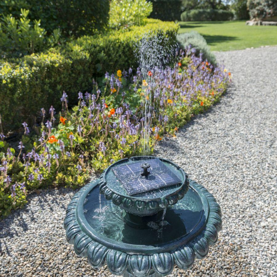 Fuente bebedero solar para p jaros victoriano luces led - Luces de ambiente ...
