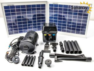 Kit de Bomba de Agua Solar con Luces LED por Solaray™