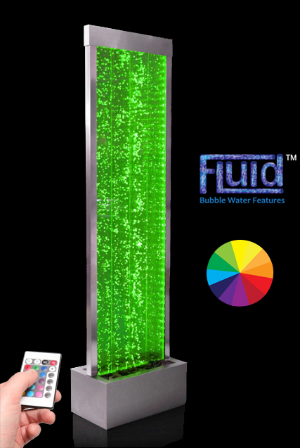 Pared de Agua de Burbujas, Luces LED y Mando a Distancia - 1,84cm