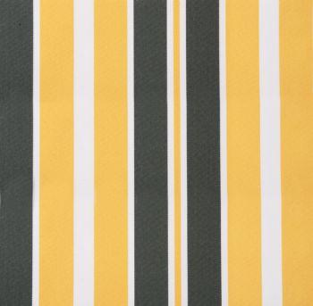 Lona de repuesto para toldo rayas amarillas y grises 2m x for Lona repuesto toldo