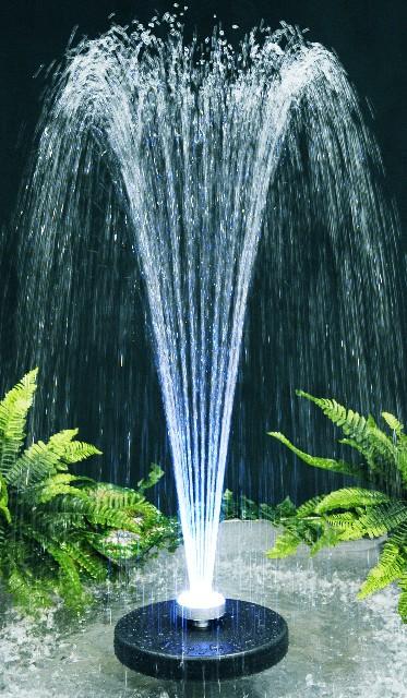 Fuente chorros de agua apolo luces led multicolores 119 99 for Accesorios para estanques de agua